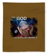 Don't Cry Little Earth Fleece Blanket
