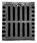 Don't Forget The Drains Bw Fleece Blanket