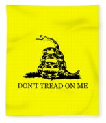 Don't Tread On Me Flag Fleece Blanket