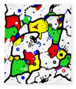 Doodle Abstract Fleece Blanket