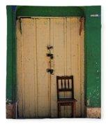 Door And Chair Fleece Blanket