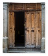Door Entrance To Church In Guatemala Fleece Blanket