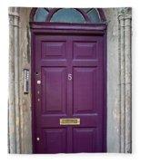 Door In Ireland 2 Fleece Blanket