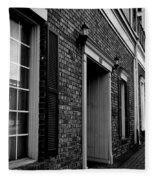 Doorway Black And White Fleece Blanket