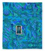Doorway Into Multi-layers Of Water Art Collage Fleece Blanket