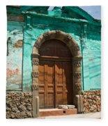 Doorway Quezaltenango Guatemala 1 Fleece Blanket