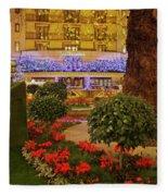 Dorchester Hotel London At Christmas Fleece Blanket