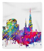Dortmund Skyline-colorful Fleece Blanket
