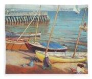 Dory Beach Fleece Blanket