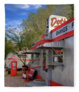 Dot's Diner In Bisbee Fleece Blanket