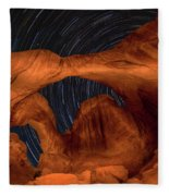 Double Arch Star Trails Fleece Blanket