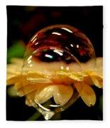 Double Bubble Flower Fleece Blanket
