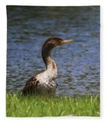 Double-crested Cormorant 4 Fleece Blanket