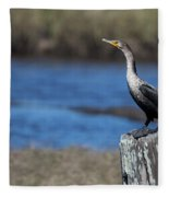Double-crested Cormorant Fleece Blanket