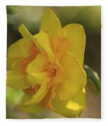 Double Daffodil Fleece Blanket