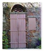 Double Doors And A Window Fleece Blanket