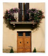Double Doors And Balcony Fleece Blanket