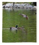 Double Duck Landing Fleece Blanket