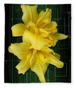 Double Jackpot Daylilies Fleece Blanket