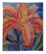 Double Lily Fleece Blanket