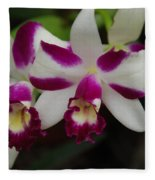 Double Orchid Fleece Blanket