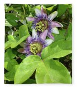 Double Passion Flowers Fleece Blanket