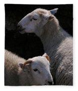 Double Portrait Fleece Blanket