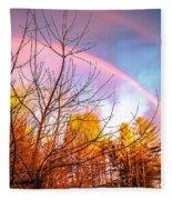 Double Rainbow-hdr Fleece Blanket