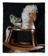 Double Seat Rocking Horse Fleece Blanket