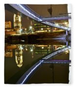 Double Skyline  Fleece Blanket