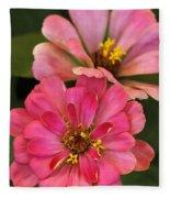Double Vision In Pink Fleece Blanket