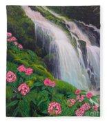 Double Hawaii Waterfall Fleece Blanket