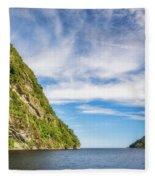 Doubtful Sound Opening To Tasman Sea Fleece Blanket