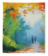 Douglas Holloway - Painting Fleece Blanket