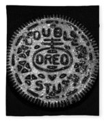 Doulble Stuff Oreo In Black And White Fleece Blanket