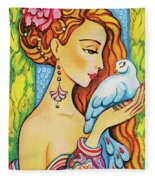 Dove Fairy Fleece Blanket