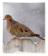 Dove In The Snow Fleece Blanket