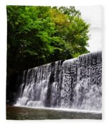 Dove Lake Waterfall Fleece Blanket