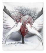 Doves Of Peace Fleece Blanket
