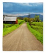 Down A Country Lane Fleece Blanket