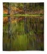Down At Pecks Pond Fleece Blanket
