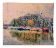 Down By The Riverside Fleece Blanket