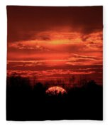 Down For The Count Sunset Art Fleece Blanket
