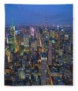 Down In The City  Fleece Blanket