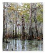 Down On The Bayou - Digital Painting Fleece Blanket