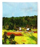 Down On The Farm Fleece Blanket