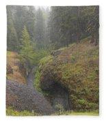 Down Pour At Boulder Cave Fleece Blanket