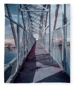 Down The Bridge Fleece Blanket