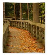 Down The Path Fleece Blanket