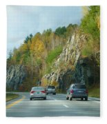 Down The Road On Route 89 Fleece Blanket